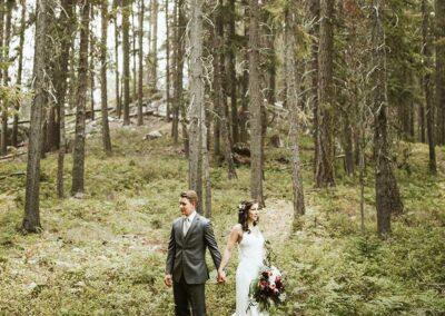 Bröllop i norrländska skogar